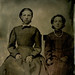 Tintype: Two Seated Girls