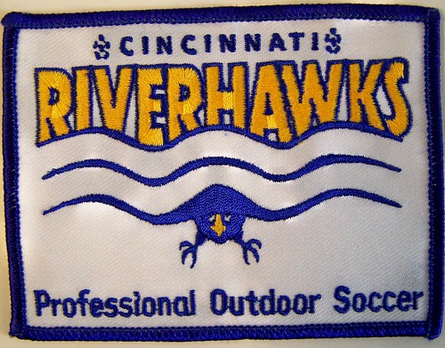 CINCINNATI RIVERHAWKS U.S.I.S.L.-USL 1997-2003 patch