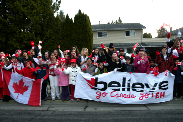 Vancouver 2010 Torch Relay in Delta & Surrey