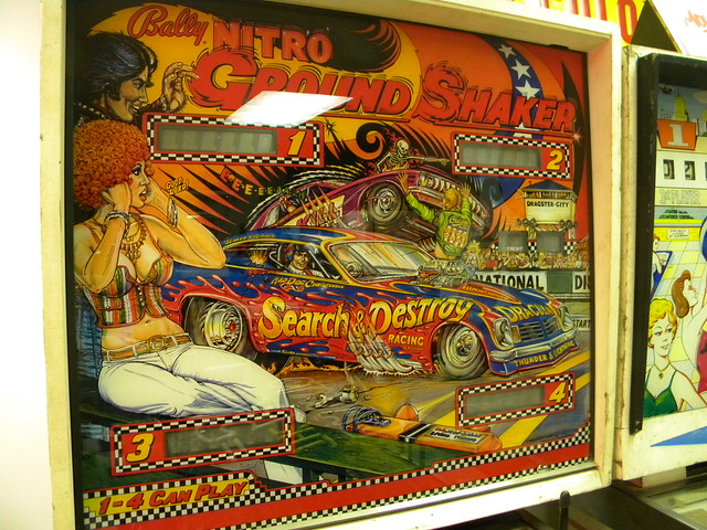 Bally Nitro Ground Shaker Pinball machine