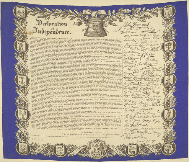 Declaration of Independence, ca. 1876