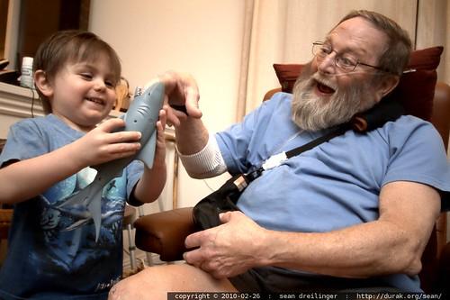 shark claims grandpa's finger