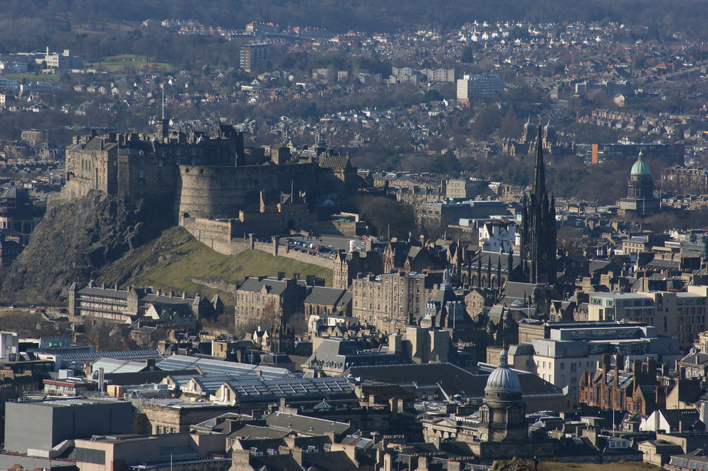 Edinburgh Castle from Arthers seat