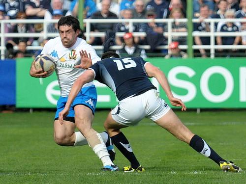 Andre Masi contro la Scozia - fotoDAK