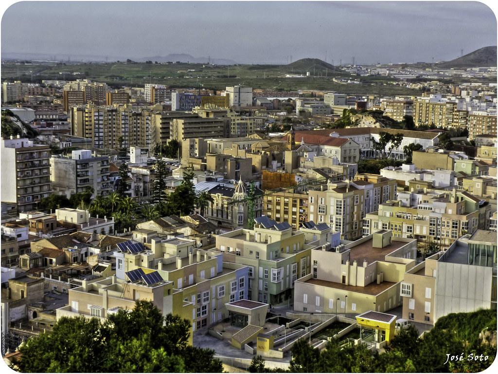 Cartagena Spain  city photos gallery : Una parte de Cartagena España tomada desde el Parque Torres.