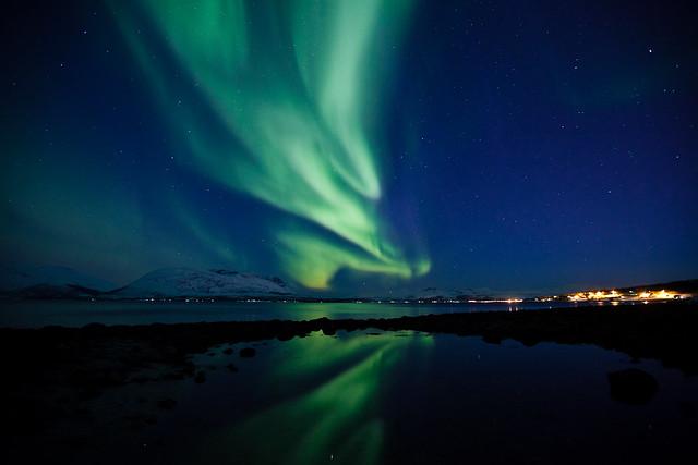 Nordlys over Berg i Tromsø
