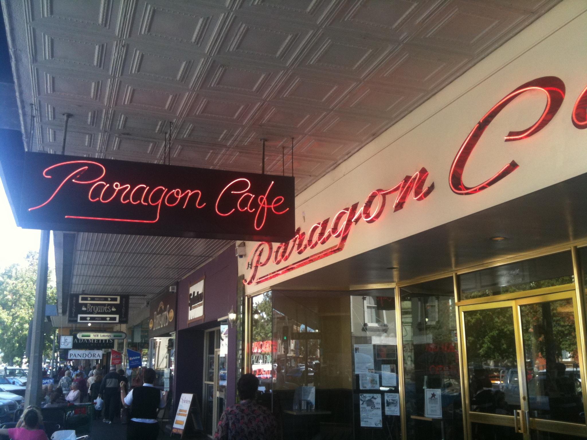 Paragon Cafe Goulburn Breakfast Menu