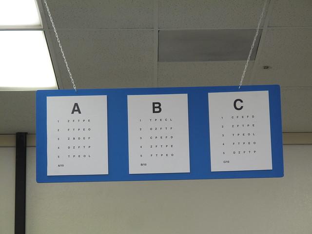 DMV Eye Charts [105:365]