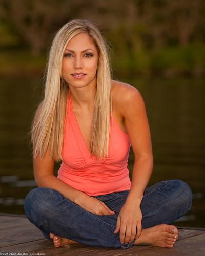 portrait lake water girl austin pier model tx jeans blonde jadebryce