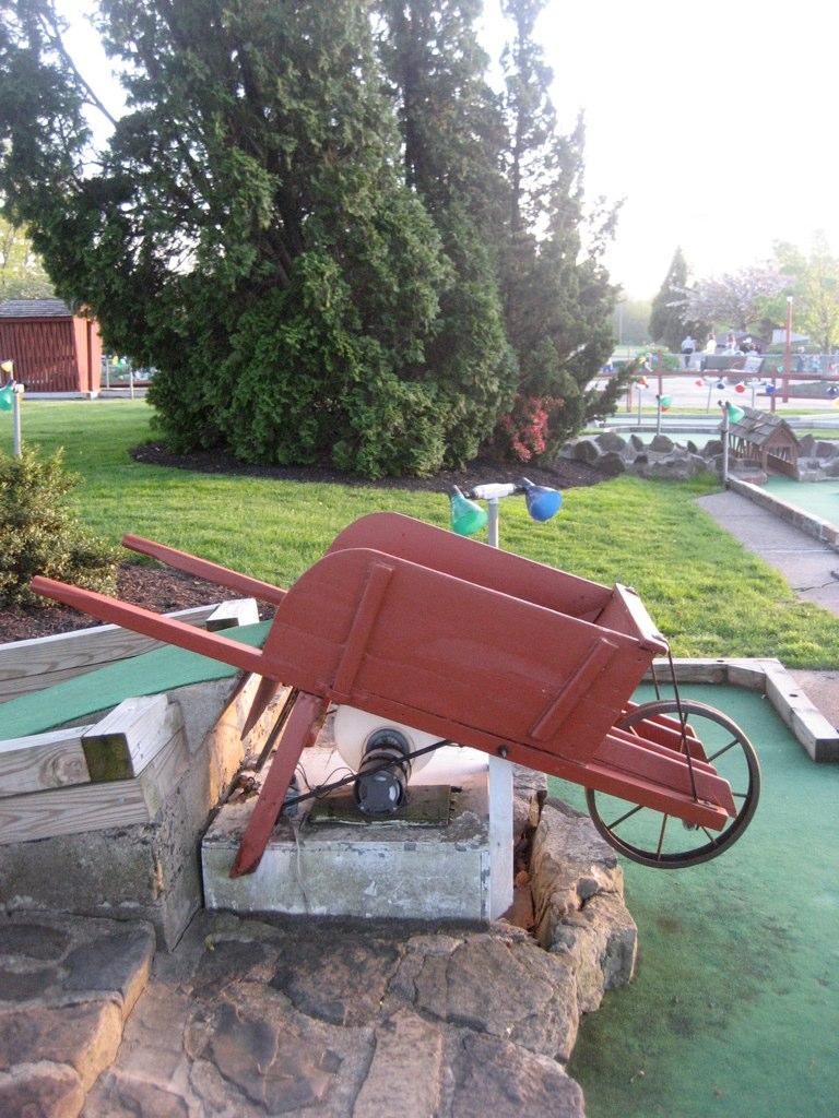 Wheel Barrow Mini Golf