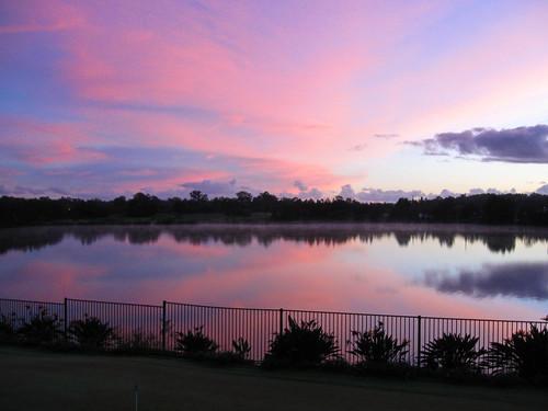 nature clouds sunrise golf queensland carbrook