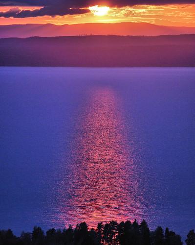 blue sunset sun sweden bluefire