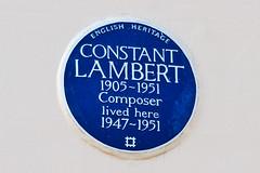 Photo of Constant Lambert blue plaque