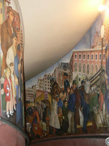 Art deco buildings coit tower murals telegraph hill for Coit tower mural