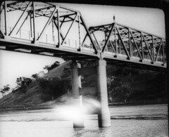 Me on Murrumbidgee bridge Ilford HP5 cut