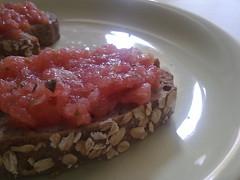 breakfast(0.0), vegetable(0.0), produce(0.0), fruit(0.0), meal(1.0), meat(1.0), steak tartare(1.0), food(1.0), dish(1.0), cuisine(1.0),