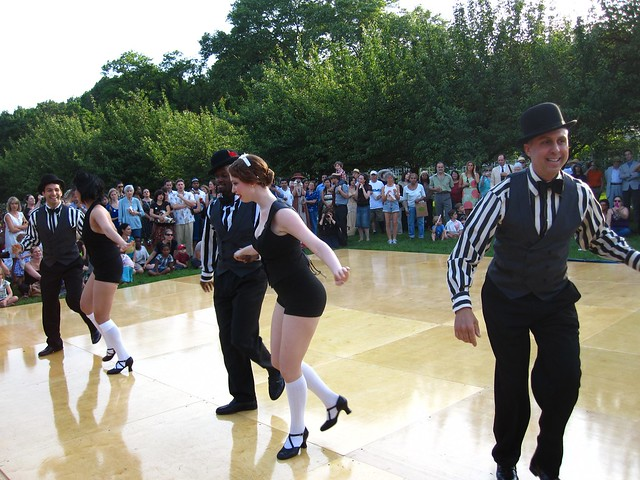 Dancers perform a 1920's dance during BBG Members' Centennial Evening. Photo by Rebecca Bullene.