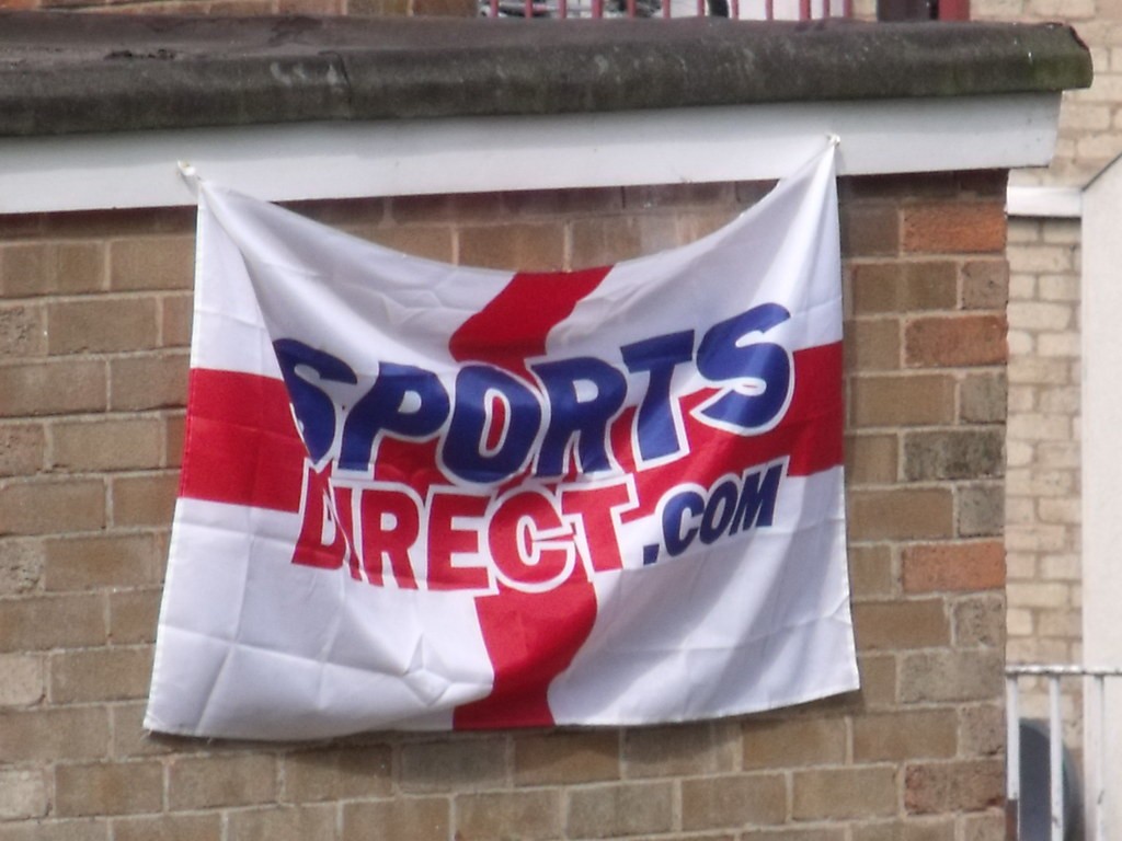 England - Sports Direct. com flag in Highgate