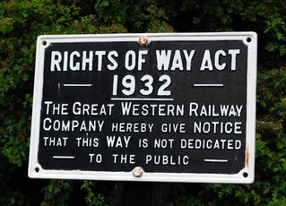 GWR cast sign