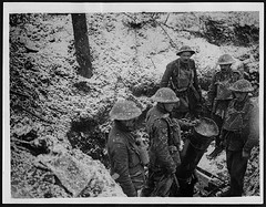 Trench mortar and its crew, near Gommecourt