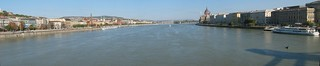 Panorama of Budapest from the Chain bridge (Széchenyi Lánchíd)