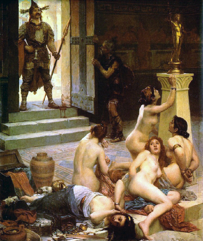 Brennus and His Share of the Spoils, by Paul Jamin, shows episode of the battle of Allia