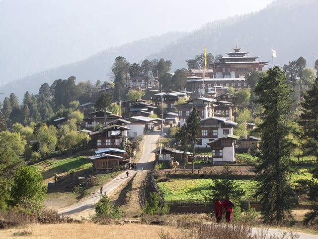 the town of Gangtey
