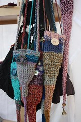 crocheted pixie bags