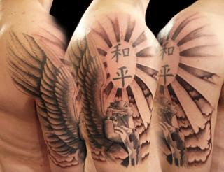 angel tattoos flickr photo sharing. Black Bedroom Furniture Sets. Home Design Ideas