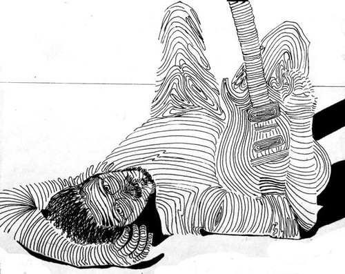 Contour Line Drawing Guitar : Cross contour flickr photo sharing