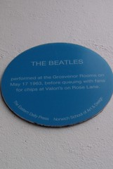Photo of The Beatles blue plaque