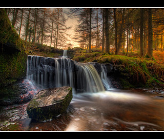 Talybont Waterfalls - January 2010