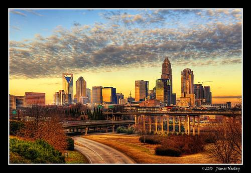 sunrise cityscape charlotte northcarolina hdr 5xp jamesneeley