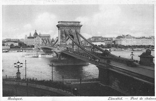 Old postcards of Budapest – Chain Bridge