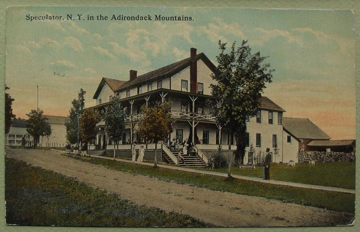 1916 adirondack vintage postcard 1910s upstate new york for Design hotel upstate new york