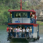 Zhenyuan, Guizhou Province, China  -  riverboat on a tributary of the Wuyang River