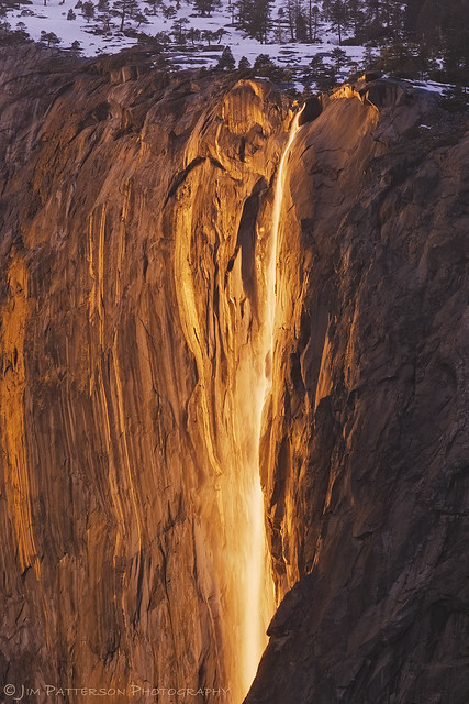 Liquid Sunshine - Horsetail Falls, Yosemite National Park, California
