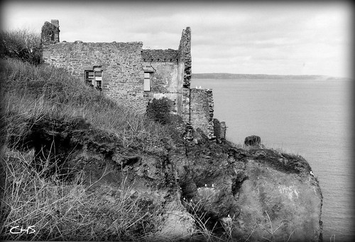 Hallsands Church - the village that was washed away by Stocker Images