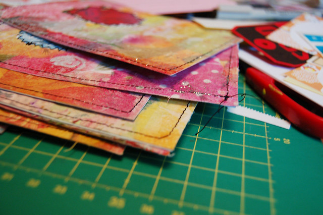 Paper cloth postcards