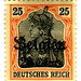 Germany Postage Stamp: Belgien overprint
