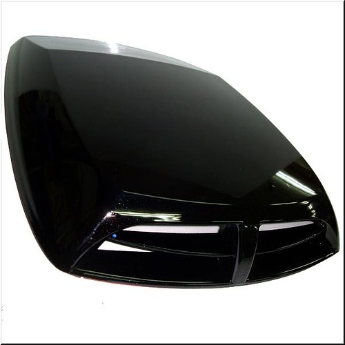 Car roof hood air scoop decorative vent cover black ebay for A href decoration none