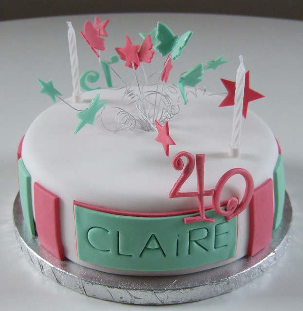 Claires 40th Side  This was a joint cake for my daughter a ...
