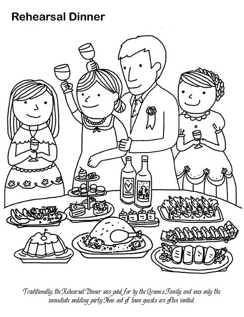 Rehearsal dinner coloring page flickr photo sharing for Dinner coloring pages