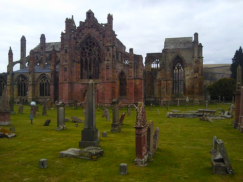 Melrose Abbey Scottish Borders