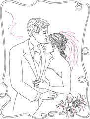 Couple Coloring Page