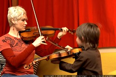 rachel coaching sequoia on violin