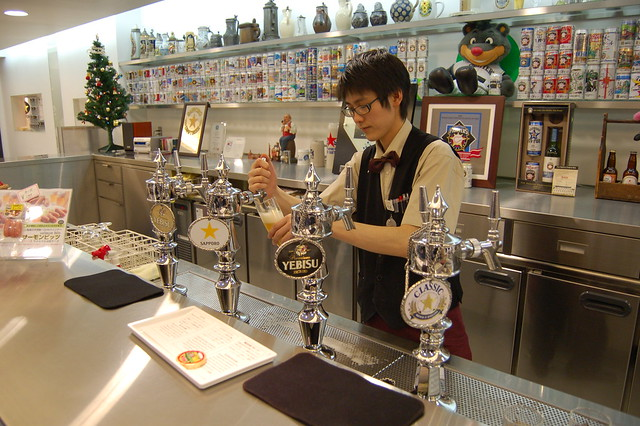 The bar inside Sapporo Beer Museum by CC user mk_is_here on Flickr