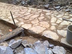 soil, rubble, flagstone, foundation,