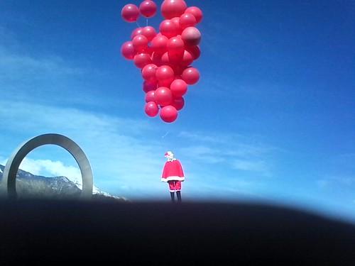 04042010::Santa pulled a balloon boy