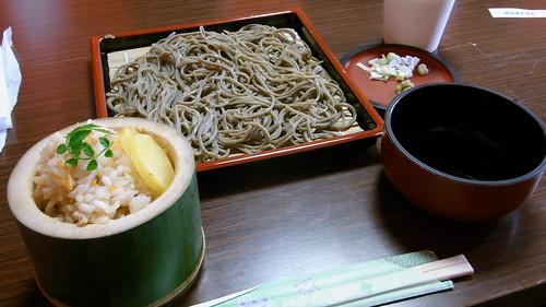 十割蕎麦 + 筍御飯